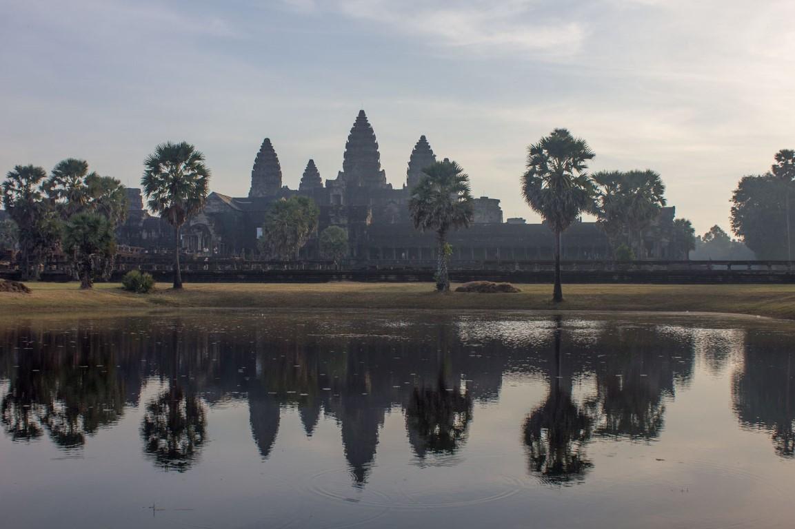 Angkor Wat kurz nach dem Sonnenaufgang