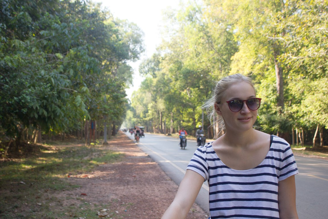 Angkor Zufahrtsstraße Tine