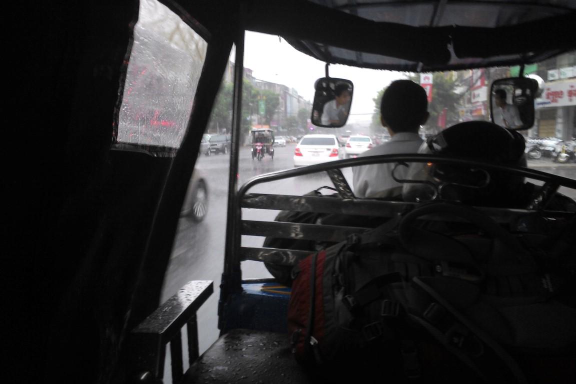 Platzregen in Phnom Penh