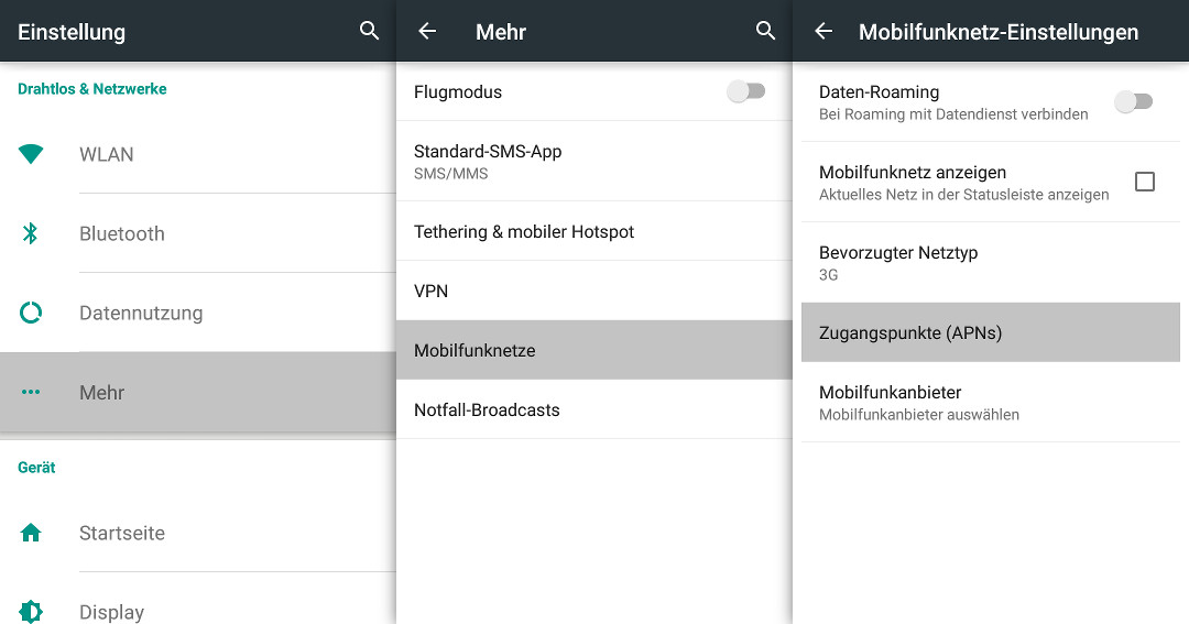 APN-Einstellung für Viettel auf Android